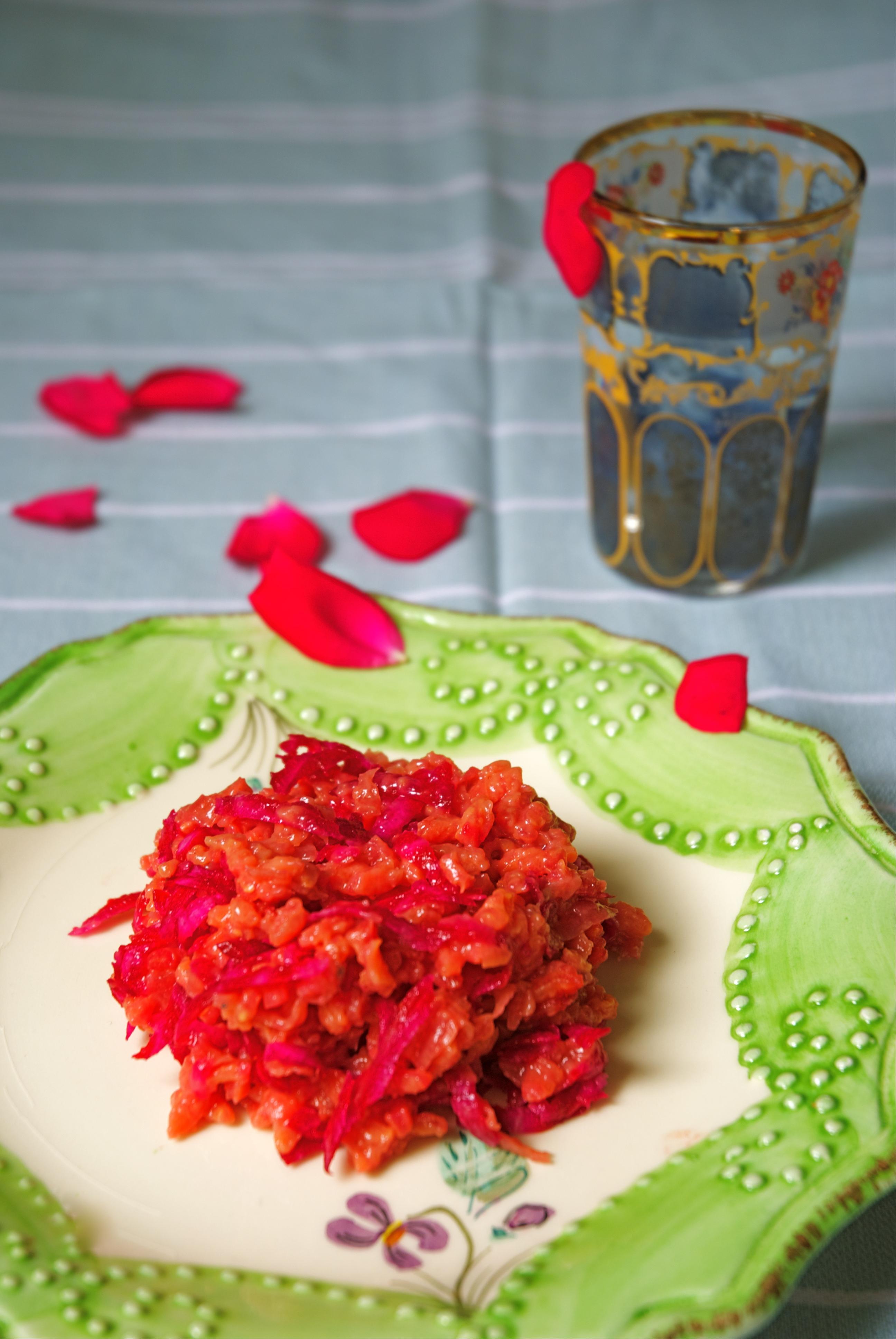 recept rode bietjes risotto