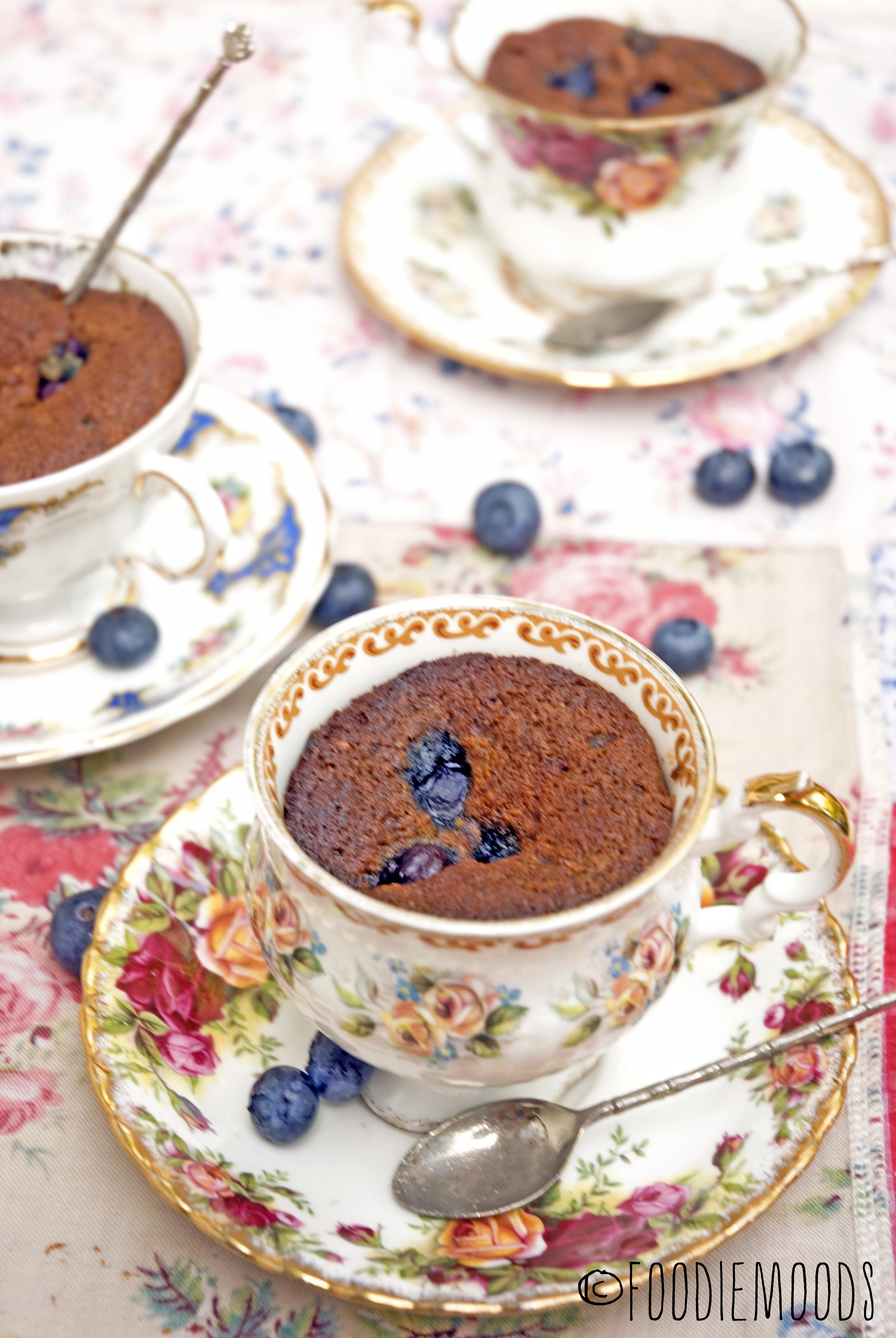 suikervrije glutenvrije blueberry cupcakes met amandelmeel