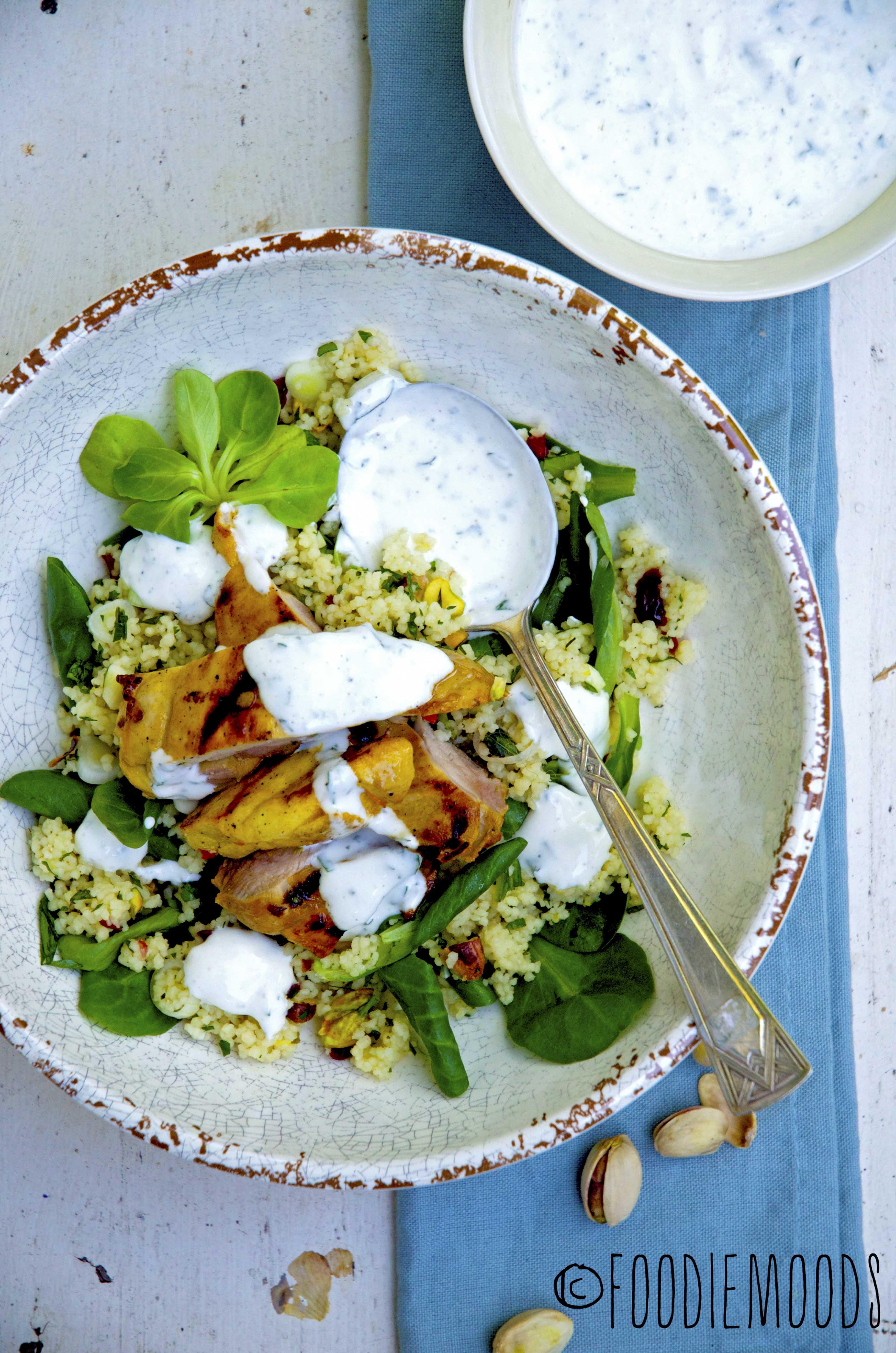 Miss Foodie recept gegrilde saffraankip met couscoussalade