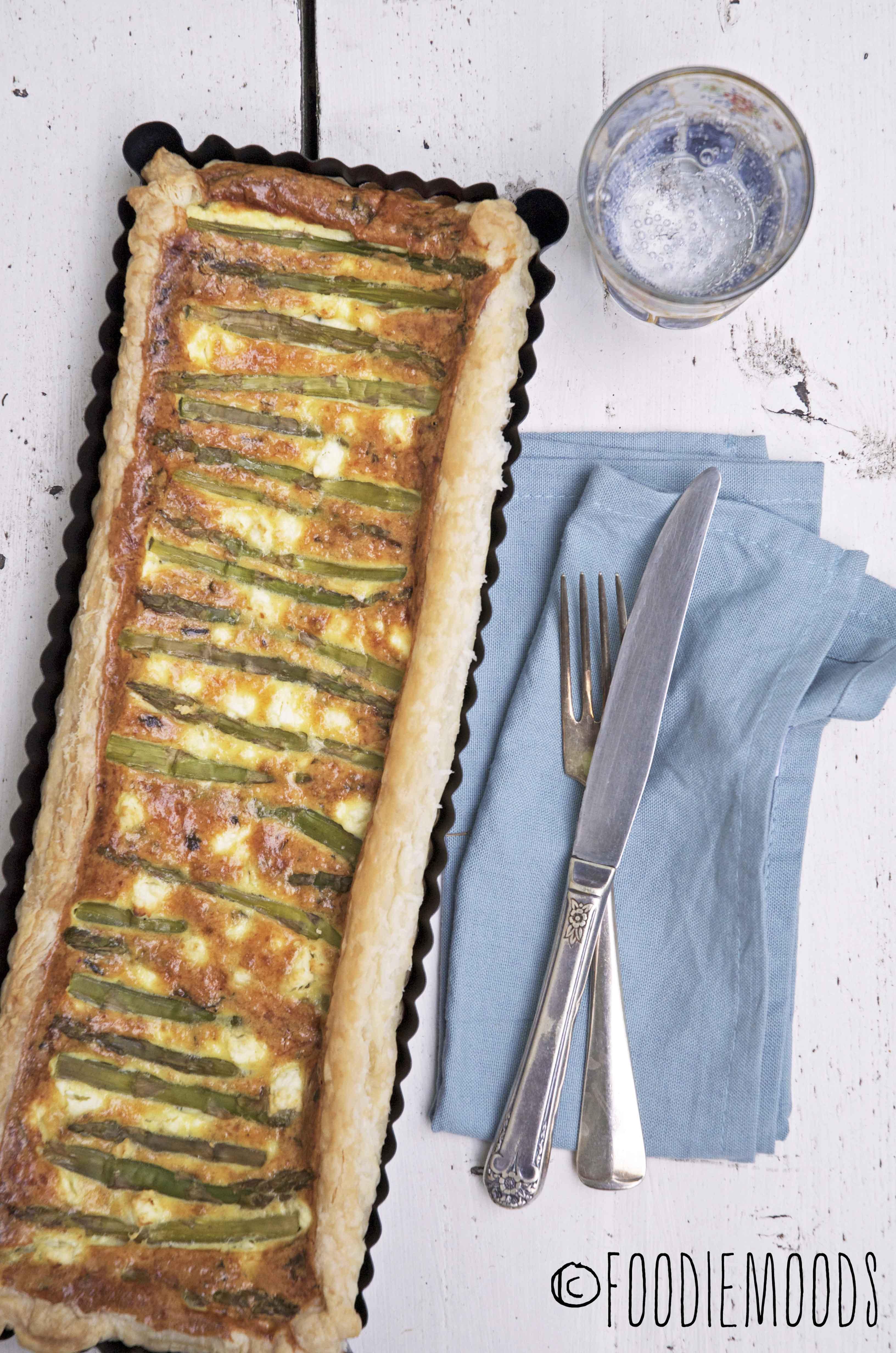 recept zomers aspergetaartje Miss Foodie