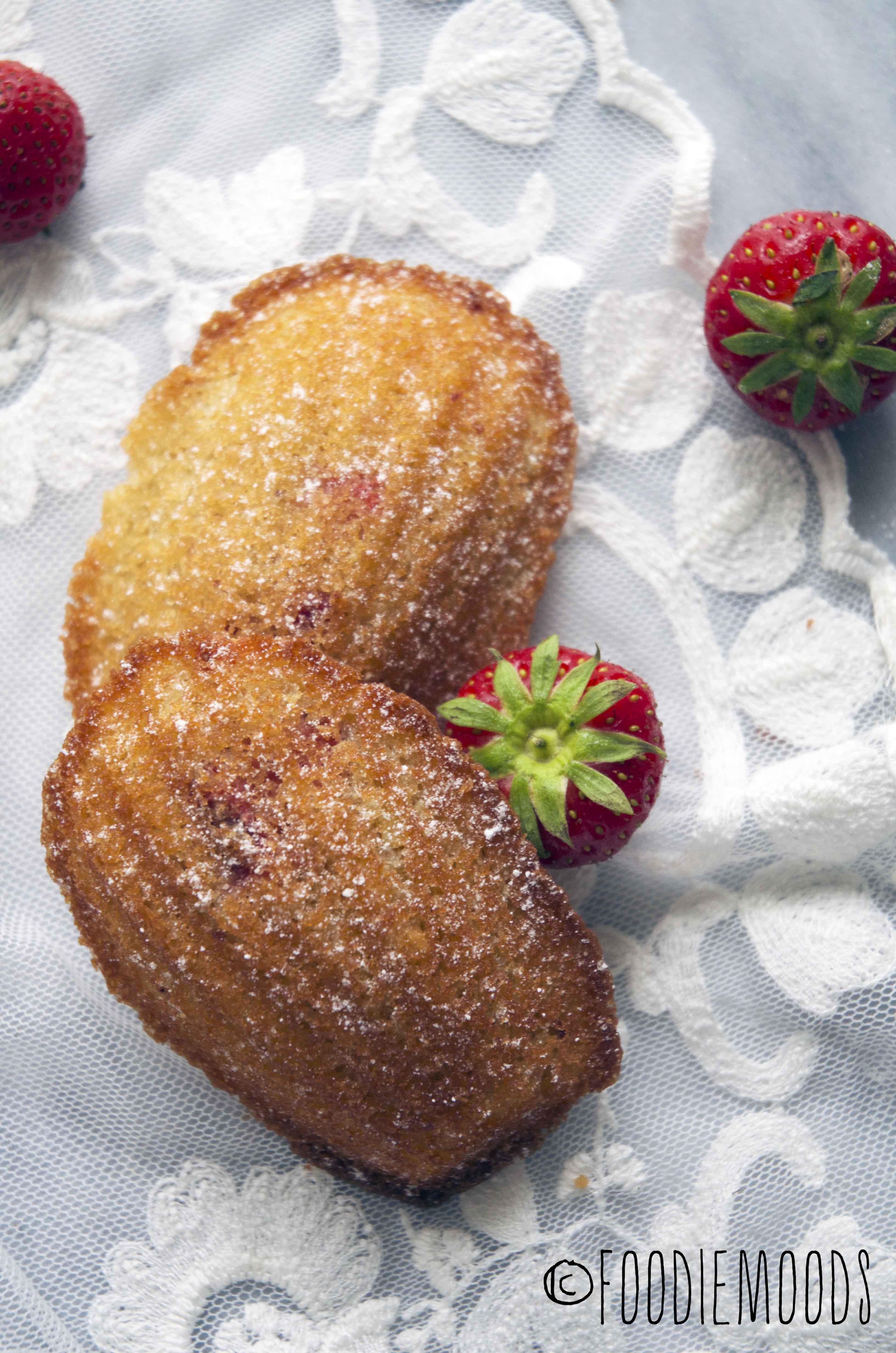 recept aardbeienmadeleines Miss Foodie