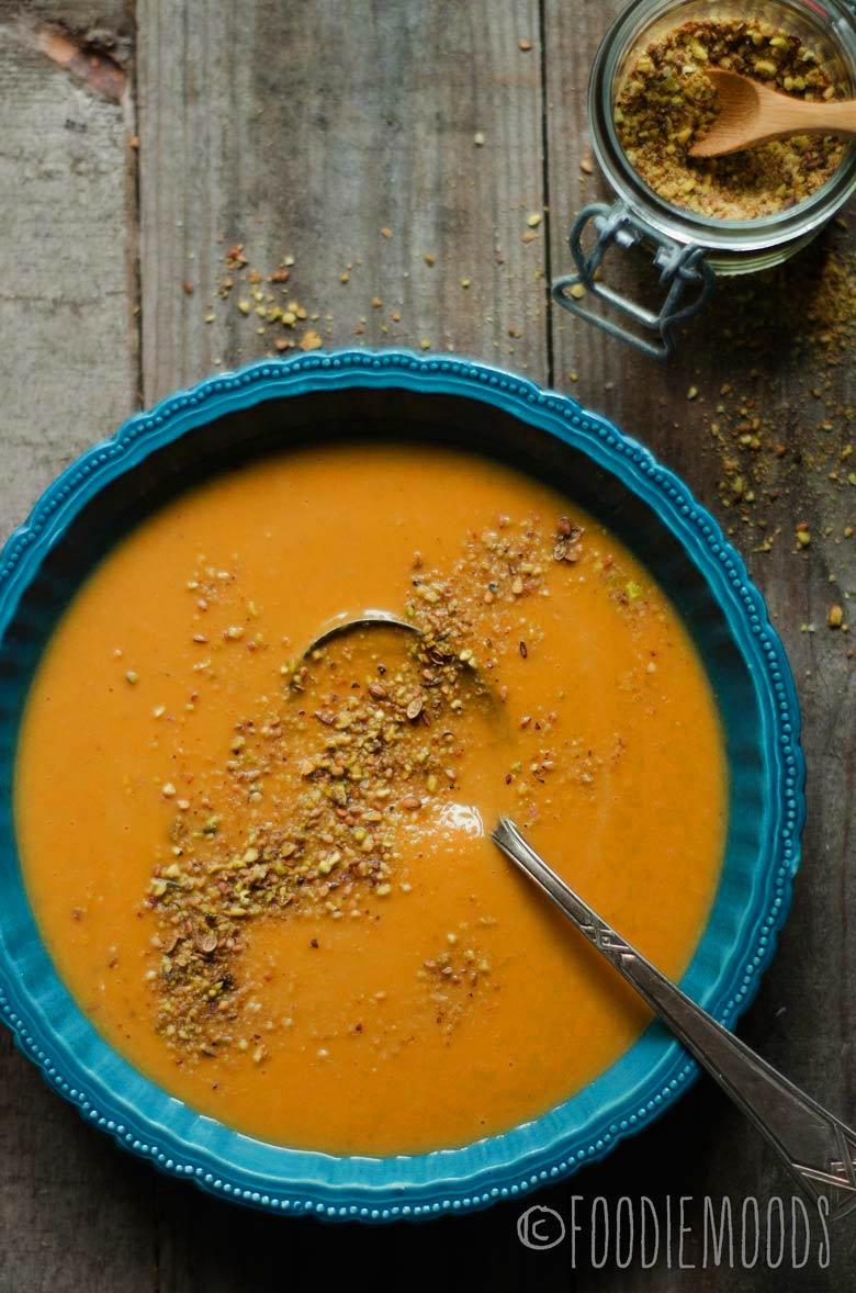 recept geroosterde pompoensoep foodiemoods