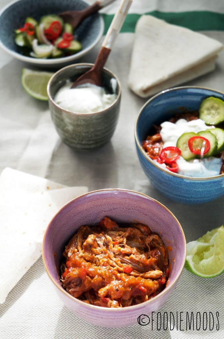 Pulled pork op z'n Mexicaans recept Miss Foodie Foodiemoods