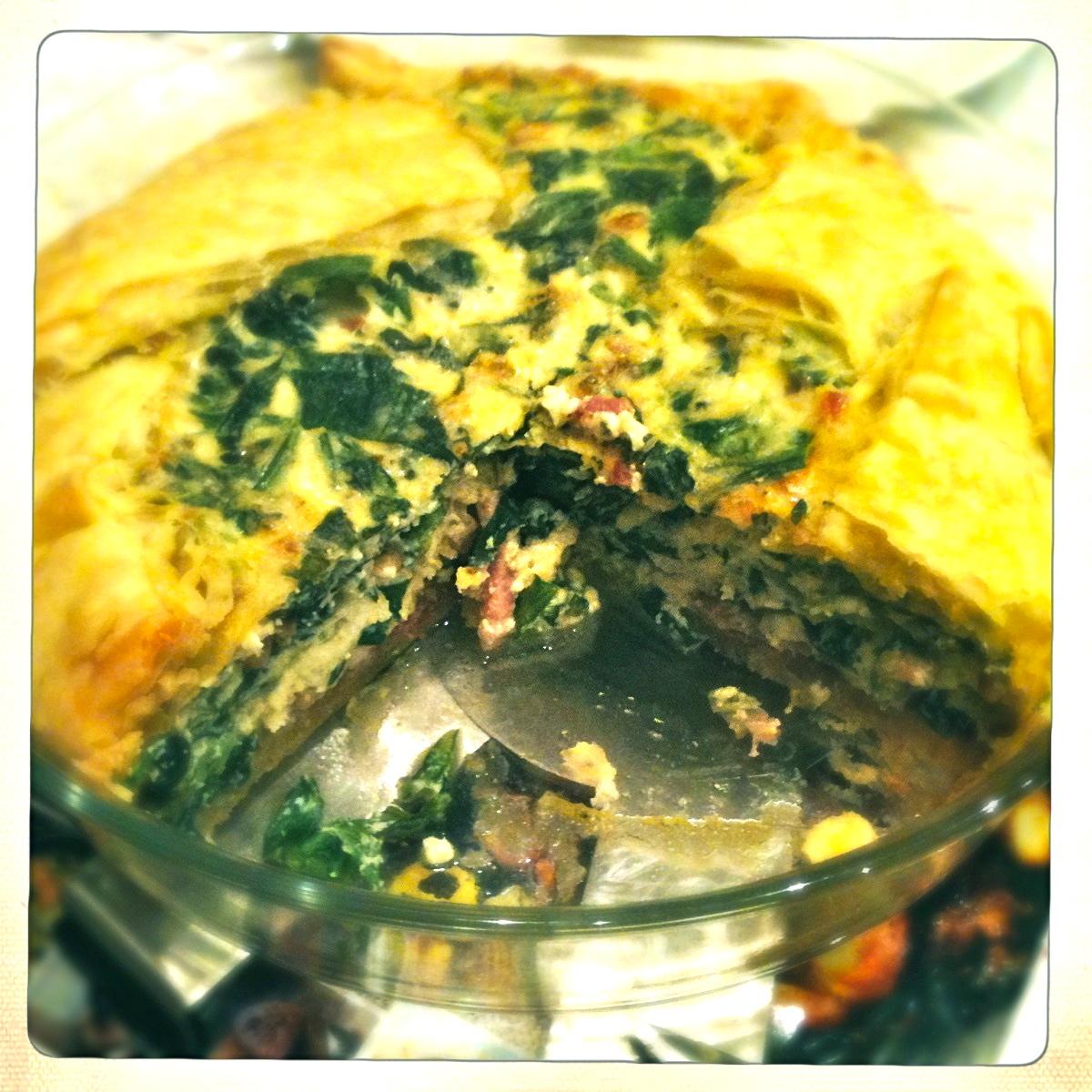 recept hartige taart andijvie spekjes pijnboompitjes Miss Foodie