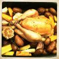 recept geroosterde polderhoen met wortelgroenten en rosevals
