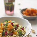 bulgurpompoensalade met granaatappelpitjes en pistachio recept Miss Foodie
