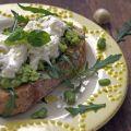 recept zomerse tuinbonentoast met mozzarella Miss Foodie