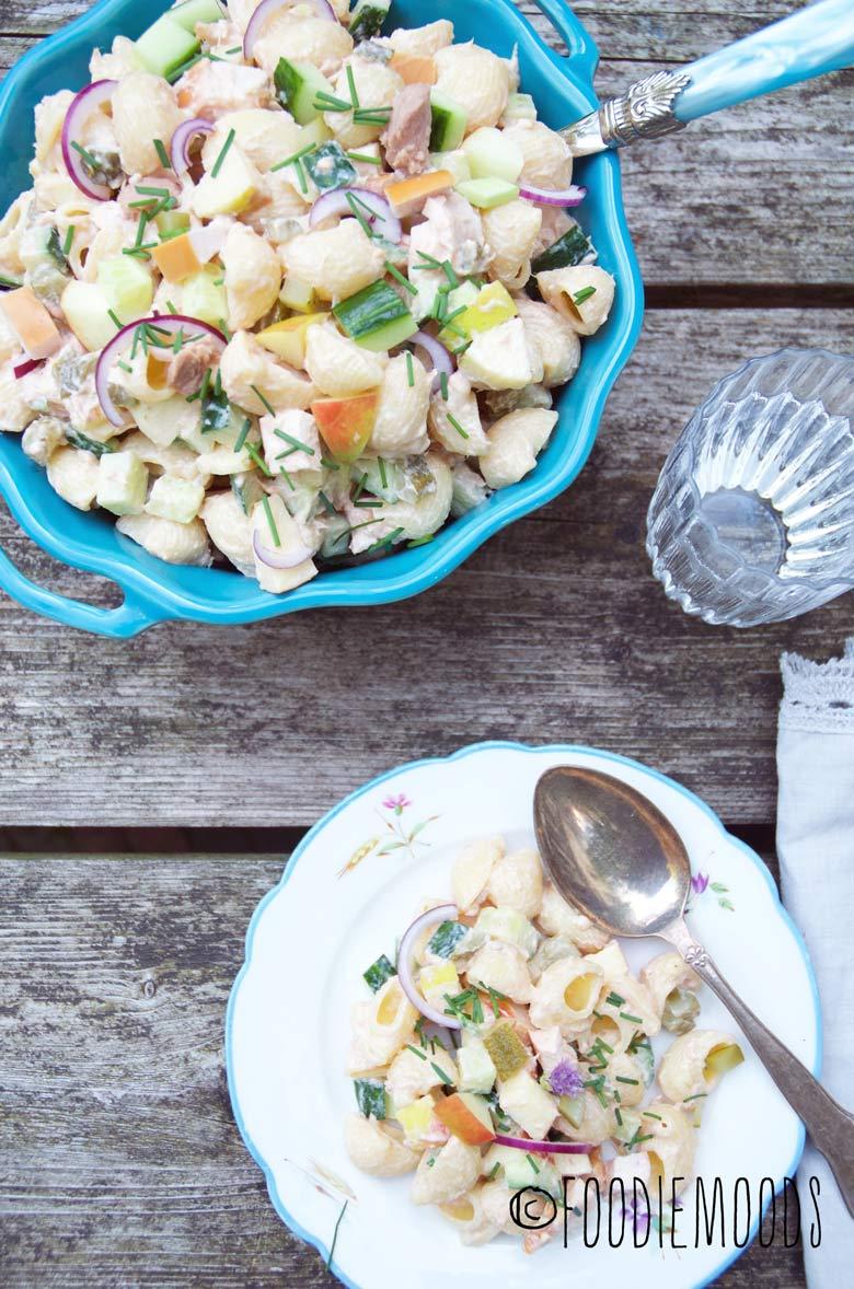 Pastasalade met tonijn recept foodiemoods