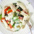 recept pastasalade met zalm, komkommer en dille foodiemoods